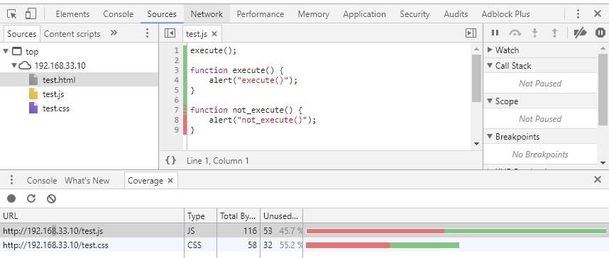 Chromeで不要なCSS/JavaScriptを洗い出す