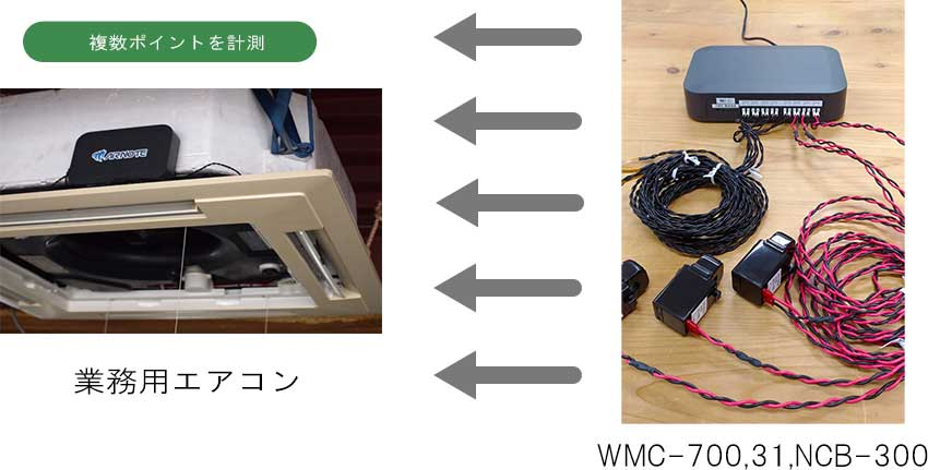 WMC-700 業務用エアコンの設置風景